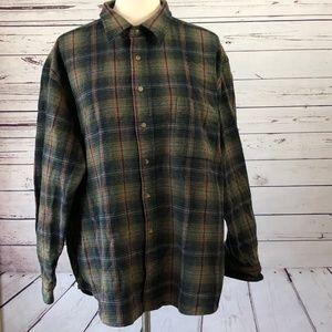 Pendleton Plaid XXL Shirt Elbow Patches Vintage 2X